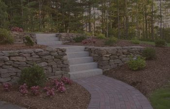 stone stairs and walkway,