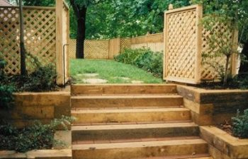 Step of Outdoor Steps with Landscape Timbers Cumming, GA,