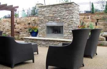 Stone Outdoor Fireplace Projects Cumming GA,